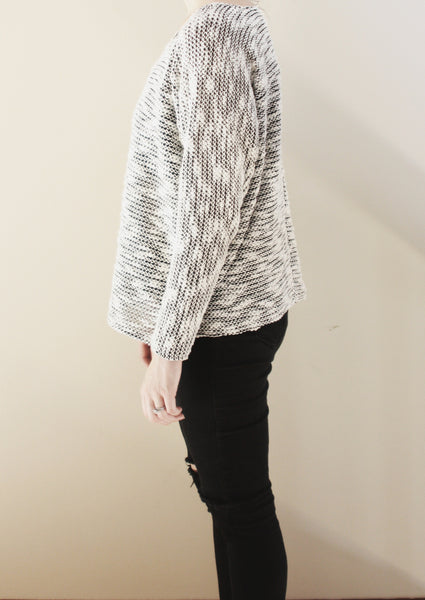 Wholesale--Black and White Sweater