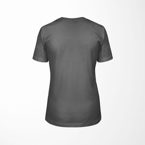 ART SHOW Relaxed Fit Women's 100% Cotton Gray T-Shirt back