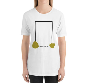 INDUSTRIAL Relaxed Fit Women's 100% Cotton White T-Shirt on model