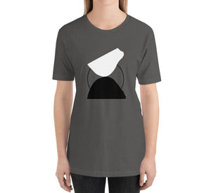 BALANCE Relaxed Fit Women's 100% Cotton Gray T-Shirt on model