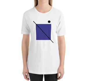 STRIKE Relaxed Fit Women's 100% Cotton White T-Shirt on model