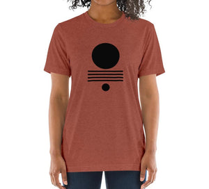 ELEMENTS Relaxed Fit Women's Triblend Clay T-Shirt on model