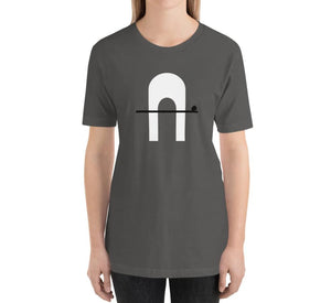 CORRIDOR Relaxed Fit Women's 100% Cotton Dark Gray T-Shirt on model
