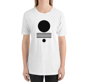 ELEMENTS Relaxed Fit Women's 100% Cotton White T-Shirt on model