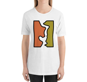 BROKEN Relaxed Fit Women's 100% Cotton White T-Shirt on model