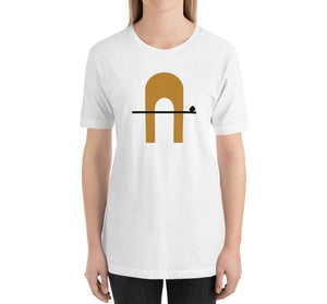 CORRIDOR Relaxed Fit Women's 100% Cotton White T-Shirt on model