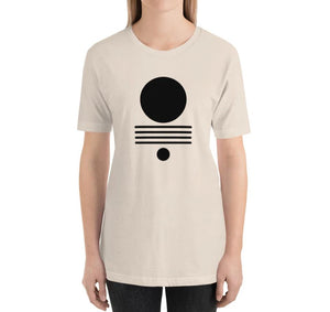 ELEMENTS Relaxed Fit Women's 100% Cotton Cream T-Shirt on model