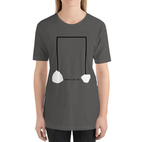 INDUSTRIAL Relaxed Fit Women's 100% Cotton Gray T-Shirt on model