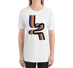 RIBBON Relaxed Fit Women's 100% Cotton White T-Shirt on model