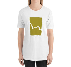 ARTIFACT Relaxed Fit Women's 100% Cotton White T-Shirt on model