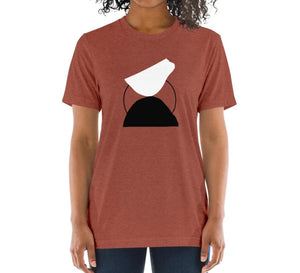 BALANCE Relaxed Fit Women's Triblend Clay T-Shirt on model