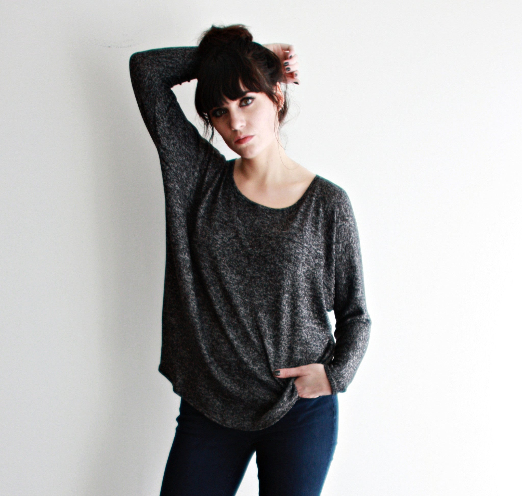 Black And Gray Hilma Top