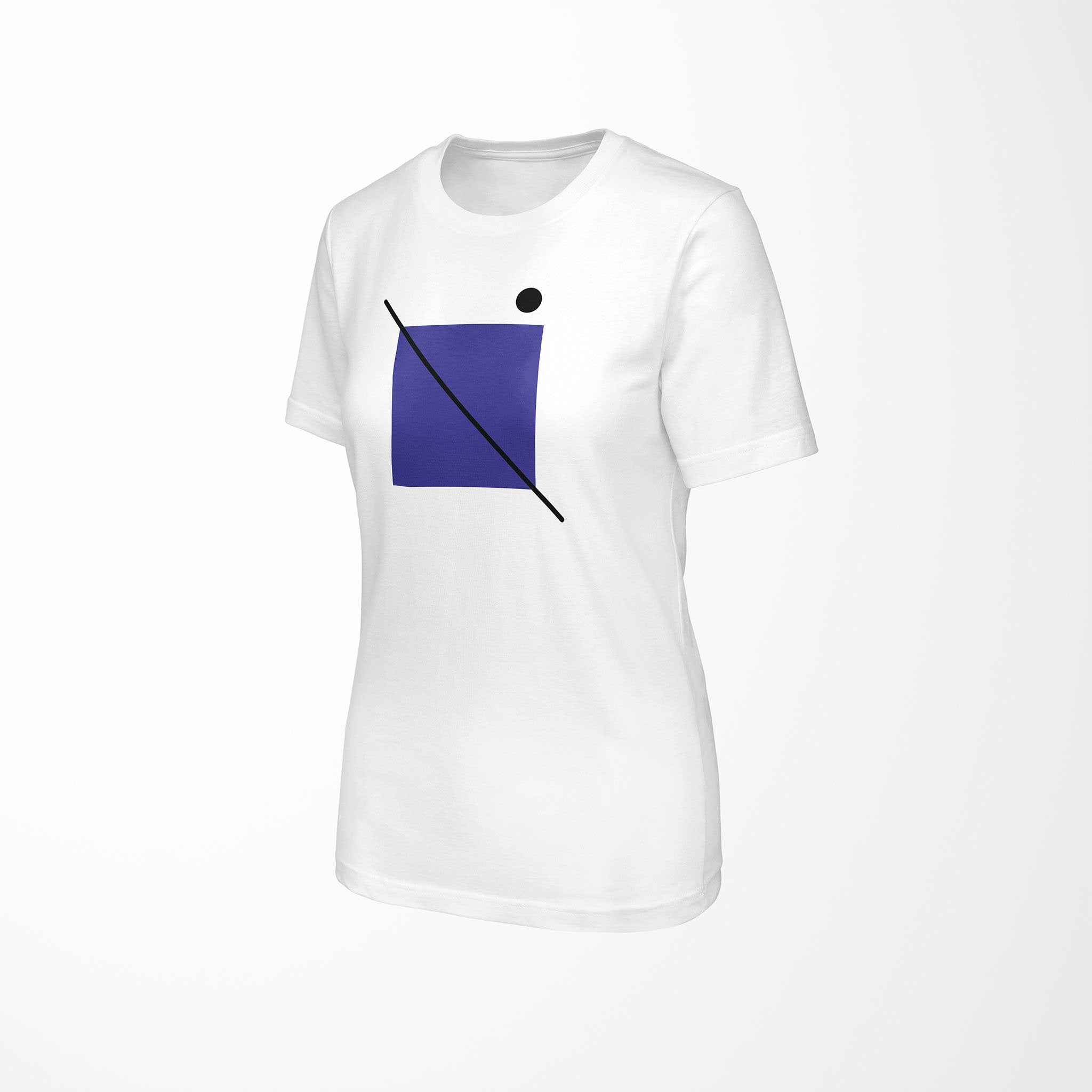 STRIKE Relaxed Fit Women's 100% Cotton White T-Shirt angle view