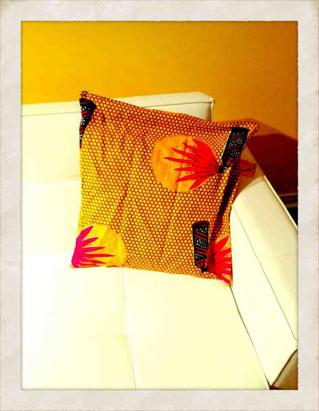Print Wax Cushion Cover