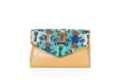 Bust head print envelope clutch