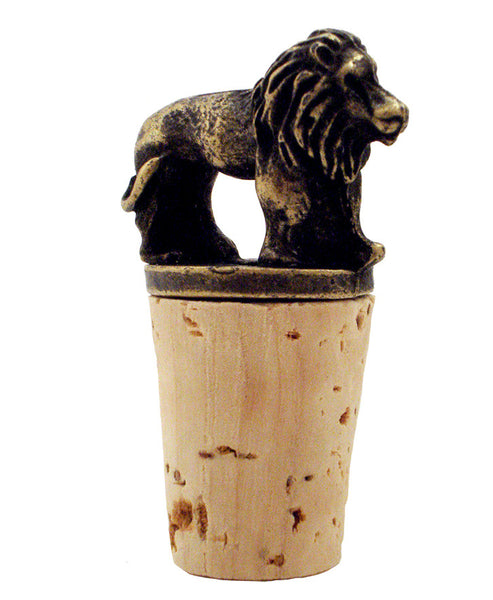 Brass-plated Wild Things Wine Stopper