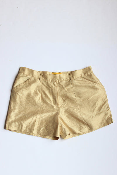 Afrotropolis Gold Silk Shorts