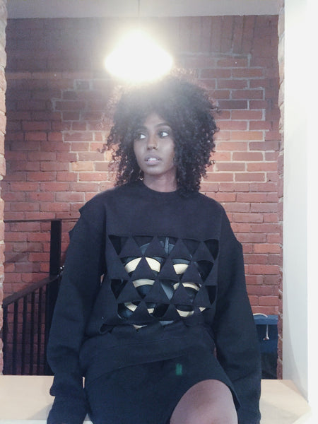 Bakuba Looping Triangles Sweatshirt