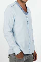 Men's Liberia Shirt (Blue Pastel)