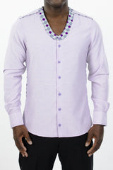 Men's Liberia Shirt (Purple Pastel)