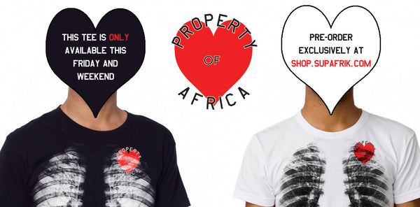 Property of Africa V-Day Tee UNISEX