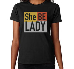Women's She Be Lady Logo T-Shirt (Black)