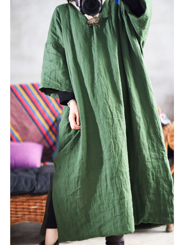 Long Hand Make Thin Cotton Solid Color Coat