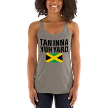 Load image into Gallery viewer, Women's Racerback Tank Tan inna yuh yard