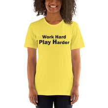Load image into Gallery viewer, Short-Sleeve Unisex T-Shirt work hard