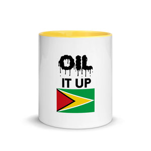 Mug with Color Inside - Oil it up Guyana