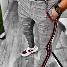Load image into Gallery viewer, Gentleman Fashion Colorblock Plaid Slim-Fit Pants