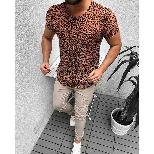 Casual Men's Short-Sleeved Fashion Printed Shirt