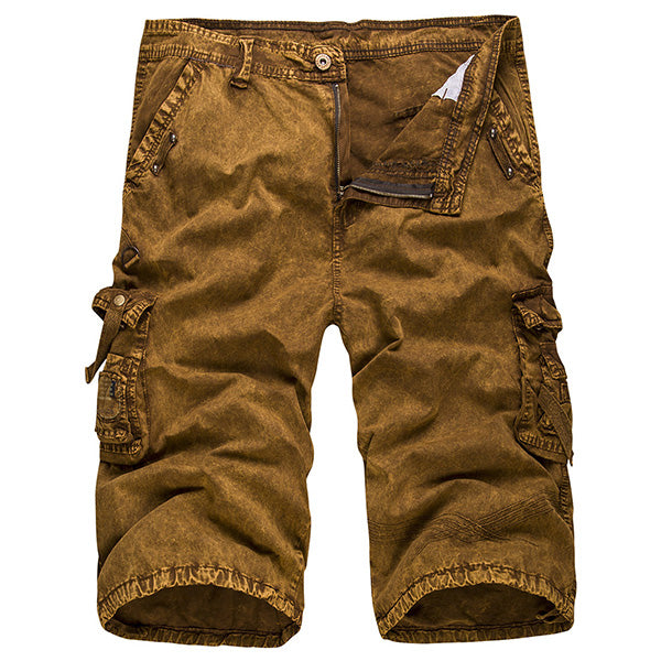 Mens Cotton Washed Fashion Cargo Shorts