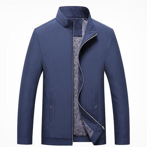 Men's Business Stand Collar Zipper Thin Jacket
