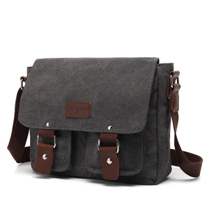 Mens Casual Canvas Vintage Bag Crossbody Bag Shoulder Bag