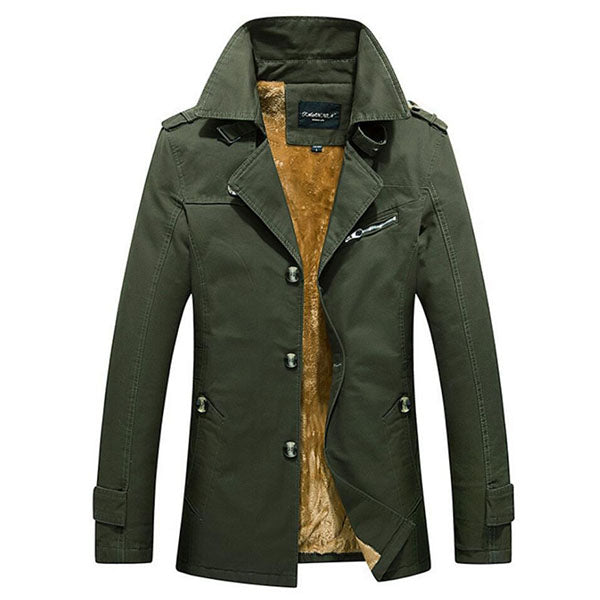 Men's Casual Medium Length Cotton Jacket