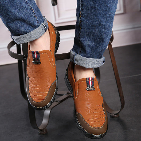 Mens All Season Slip On Casual Flats Non-Slip Fashion Loafers