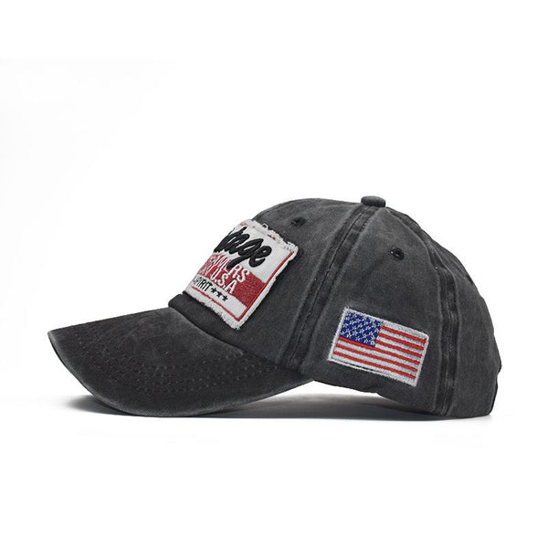 Men's Summer Letter Embroidered Washed Baseball Cap