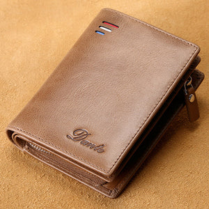 Mens Fashion Genuine Leather Vintange Multi Card Slots Wallets