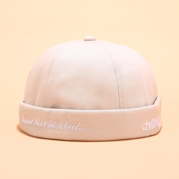 Women Men Sailor Cap Rolled Cuff Retro Brimless Hats Beanie Hats Bucket Caps