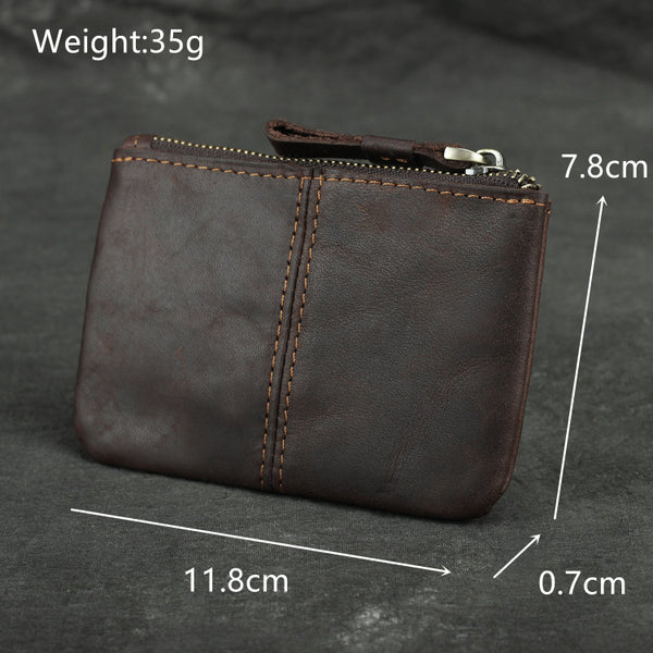Retro Mini Short Zip Small Wallet