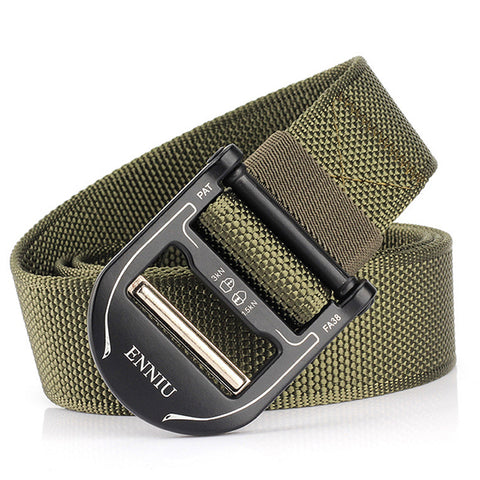 Mens Fashion Sports Nylon Buckle Belt