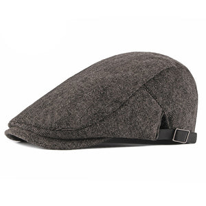 Mens Autumn Winter Adjustable Visor Hats Newsboy Berets Hats