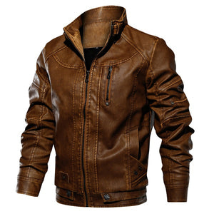 Men Zipper Casual Jacket Fashion Warm Thicken Coats