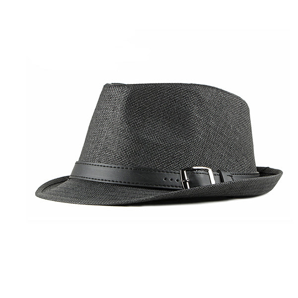 Mens Casual Outdoor Travel Sunshade Solid Straw Hat