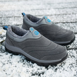 Men's Plus Velvet Soft Bottom Warm Casual  Sports Shoes