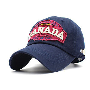 Casual Letter Canada Embroidery Sunshade Hats Baseball Caps