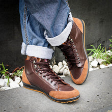 Load image into Gallery viewer, Comfy Casual High Top Sneakers Ankle Boots Lace Up Shoes