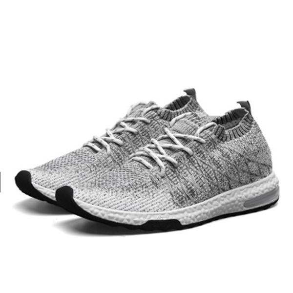 Mens Breathable Flat Athletic Shoes Mesh Lace-up Sneakers Sports Shoes