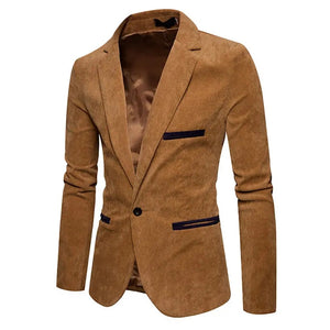 Spring/Autumn Men's Business Slim Vintage Stitching Color Casual Suits